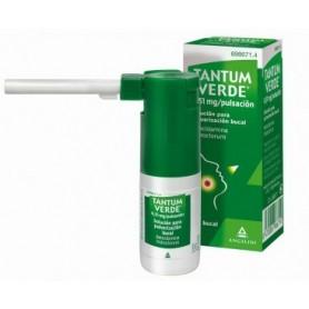 TANTUM VERDE 0,51 MG/PULSACION SOLUCION PARA PULVERIZACION BUCAL , FRASCO DE 15 ML