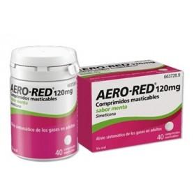 AERO RED 120 MG COMPRIMIDOS MASTICABLES SABOR MENTA, 40 COMPRIMIDOS